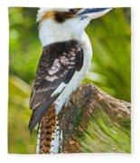 Laughing Kookaburra Fleece Blanket