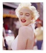 Laughter Of Marilyn Fleece Blanket