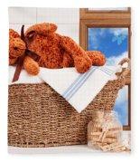 Laundry With Teddy Fleece Blanket
