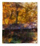 Laura Bradley Park Foot Bridge 02 Fleece Blanket