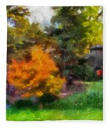 Laura Bradley Park Japanese Garden 02 Fleece Blanket