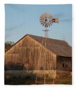 Laurel Road Barn Fleece Blanket