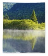Laurentian Summer Morning Fleece Blanket
