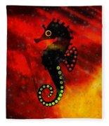 Lava Loving Seahorse Fleece Blanket