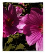 Lavatera - A Study In Pink Fleece Blanket