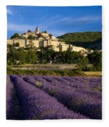 Lavender And Banon Fleece Blanket