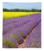 Lavender And Mustard Fleece Blanket