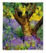 Lavender And Olive Tree Fleece Blanket