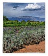 Lavender And Sunflowers Fleece Blanket