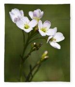 Lavender Blush Cuckoo Flower Fleece Blanket