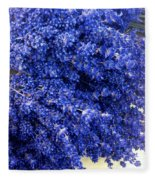 Lavender Bunch Flowers Fleece Blanket