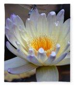 Lavender Edged Lotus Fleece Blanket