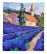 Lavender Field In St. Columne Fleece Blanket