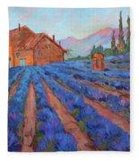 Lavender Field Provence Fleece Blanket