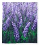 Lavender Garden II Fleece Blanket