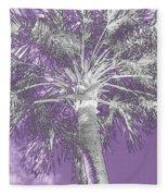 Lavender Glow Palm Tree Myakka River State Park Usa Fleece Blanket