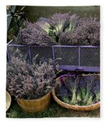 Lavender Harvest Fleece Blanket