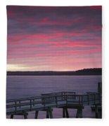 Lavender Hues Fleece Blanket