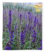 Lavender In The City Park Fleece Blanket