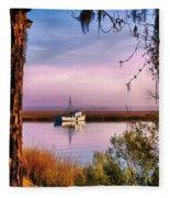 Lavender Light Reflections Fleece Blanket