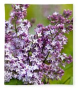 Lavender Lilacs Fleece Blanket