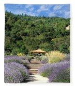 Lavender Path Fleece Blanket