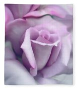 Lavender Rose Flower Portrait Fleece Blanket