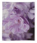 Lavender Purple Roses Rhapsody Fleece Blanket