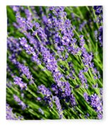 Lavender Square Fleece Blanket
