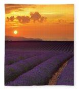 Lavender Sunset Fleece Blanket