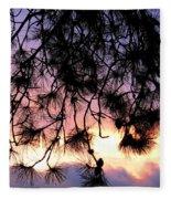 Lavender Sunset Painting Fleece Blanket