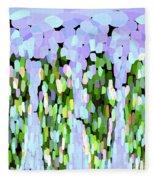 Lavender Tear Drops Fleece Blanket