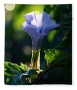 Lavender Trumpet Flower Fleece Blanket