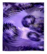 Lavender Water Abstract Fleece Blanket