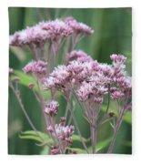 Lavender Wildflower Fleece Blanket