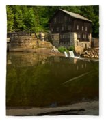 Lawrence County Grist Mill Fleece Blanket