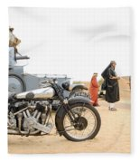 Lawrence Of Arabia Display At The Goodwood Revival Meeting Fleece Blanket