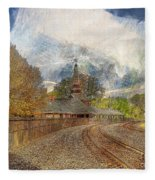 Lawrence Union Pacific Depot Fleece Blanket