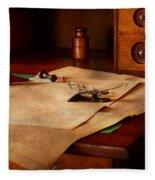 Lawyer - Optician - Reading The Fine Print  Fleece Blanket