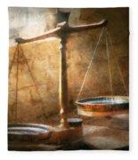 Lawyer - Scale - Balanced Law Fleece Blanket