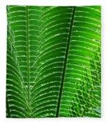 Layered Ferns I Fleece Blanket