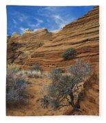 Layered Sandstone Fleece Blanket