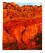 Layers Of Orange Rock Fleece Blanket