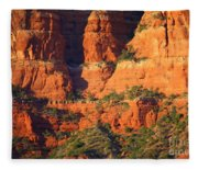 Layers Of Red Rock Fleece Blanket