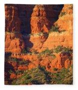 Layers Of Red Rock Fleece Blanket