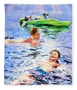 Lazy Hazy Crazy Days Fleece Blanket