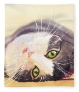 Lazy Kitty Fleece Blanket