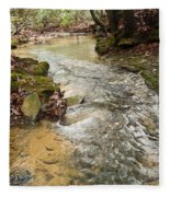 Lazy Mountain Stream Fleece Blanket