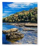 Lazy River Afternoon Fleece Blanket