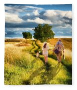 Lazy Summer Afternoon Fleece Blanket